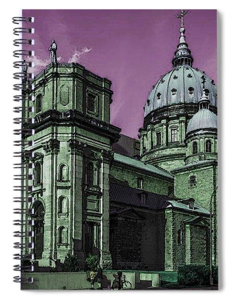 Historic Montreal Cathedral - Marie Reine Du Monde Canada Spiral Notebook