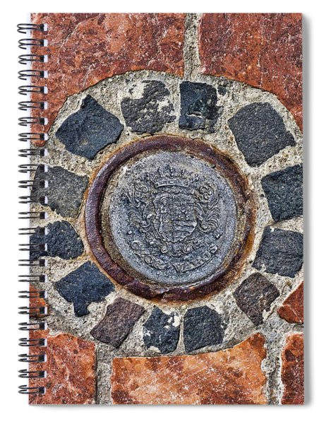 Historic Pavement Detail With Hungarian Town Seal Spiral Notebook