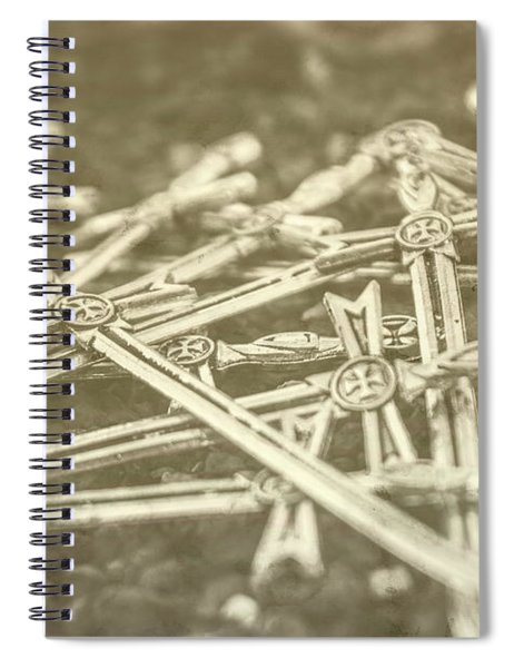 History Of The Sword Spiral Notebook