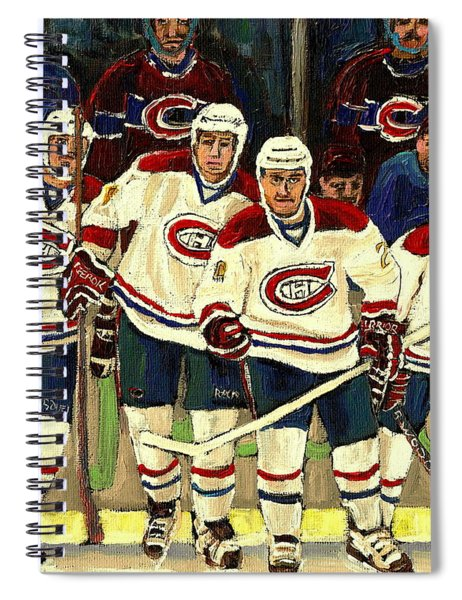 Hockey Art The Habs Fab Four Spiral Notebook