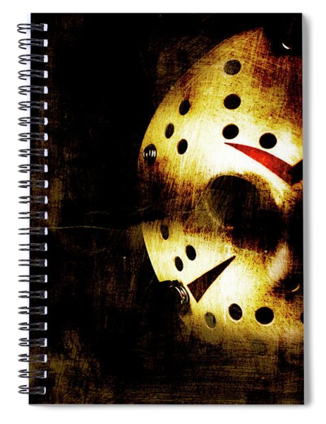 Hockey Mask Horror Spiral Notebook