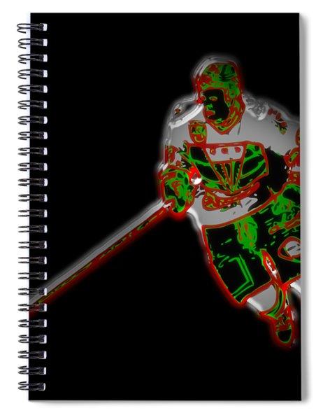 Hockey Player Spiral Notebook