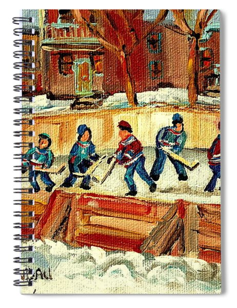 Hockey Rinks In Montreal Spiral Notebook