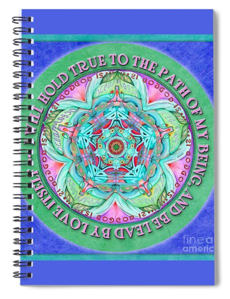 Hold True Mandala Prayer Spiral Notebook