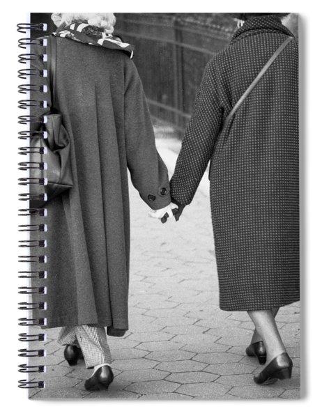 Holding Hands Friends Spiral Notebook