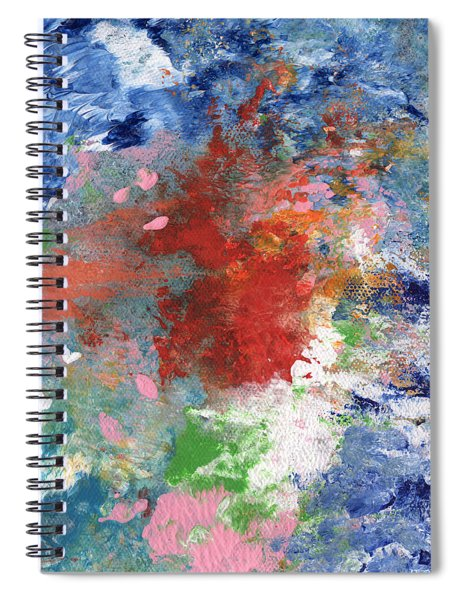 Holding On- Abstract Art By Linda Woods Spiral Notebook