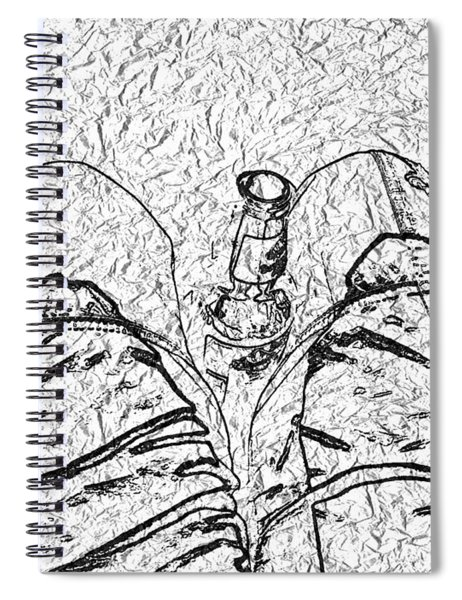 Holding The Beer Spiral Notebook