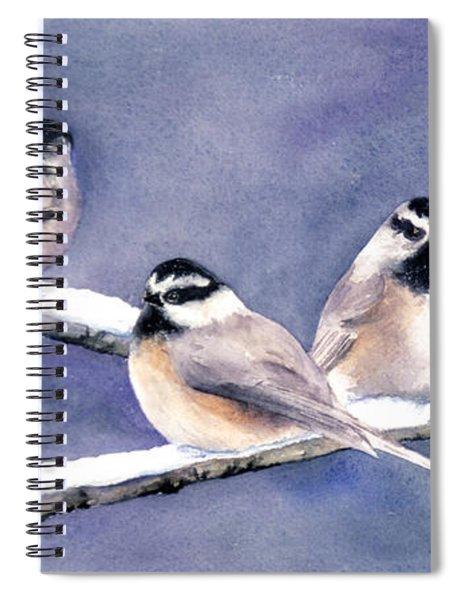 Holiday Chickadees Spiral Notebook