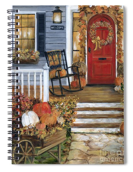 Pumpkin Porch Spiral Notebook