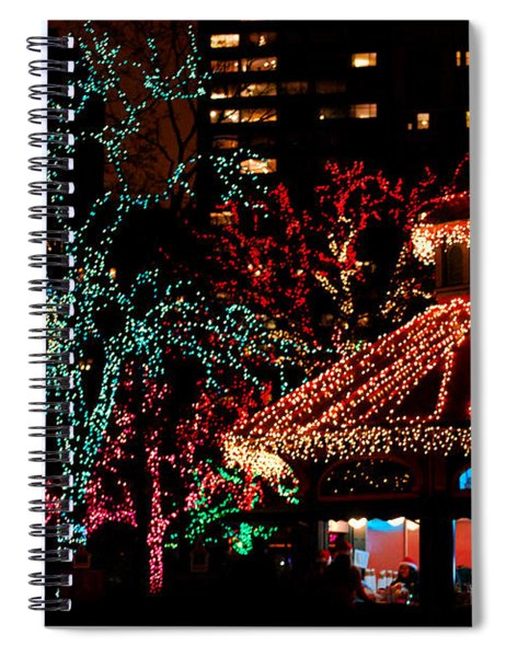 Holiday Lights At Lincoln Park Zoo Spiral Notebook
