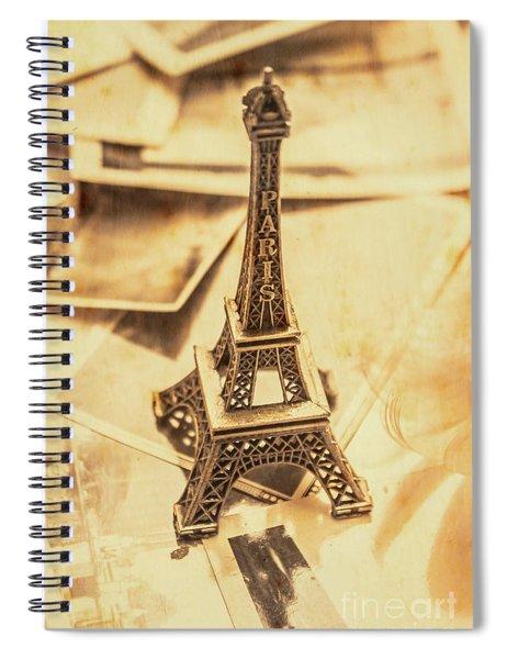 Holiday Nostalgia In Vintage France Spiral Notebook