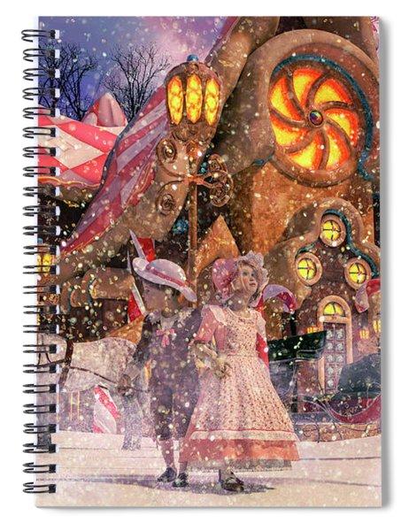 Holiday Village Spiral Notebook