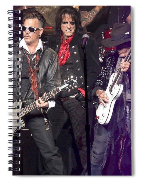 Hollywood Vampires Depp Cooper Perry Spiral Notebook