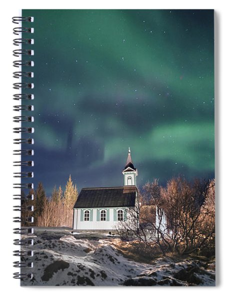 Holy Night Spiral Notebook