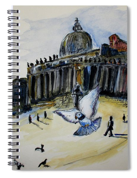 Holy Pigeons Spiral Notebook