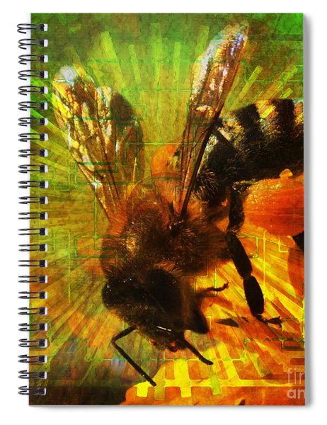 Homage To A Bee 2015 Spiral Notebook