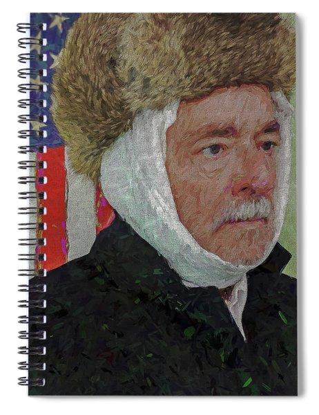 Homage To Van Gogh Selfie Spiral Notebook
