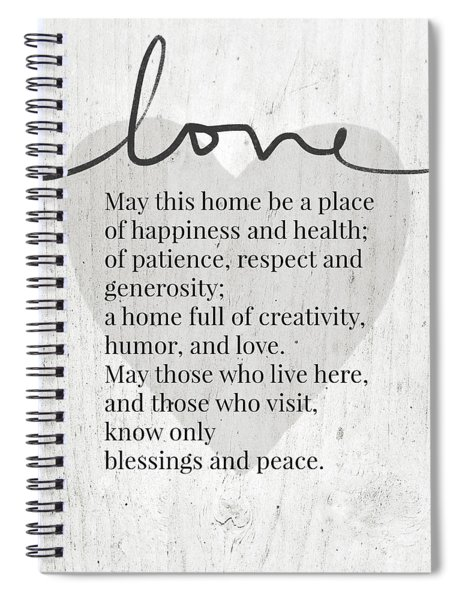 Home Blessing Rustic- Art By Linda Woods Spiral Notebook