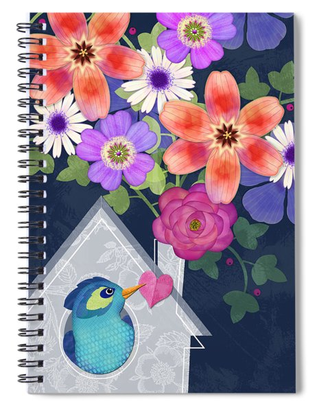 Home Is Where You Bloom Spiral Notebook