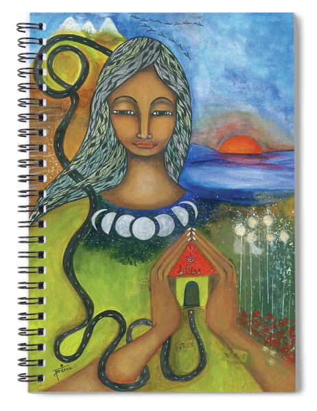 Home Is Where Your Heart Is Spiral Notebook by Prerna Poojara