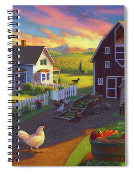 Home On The Farm Spiral Notebook