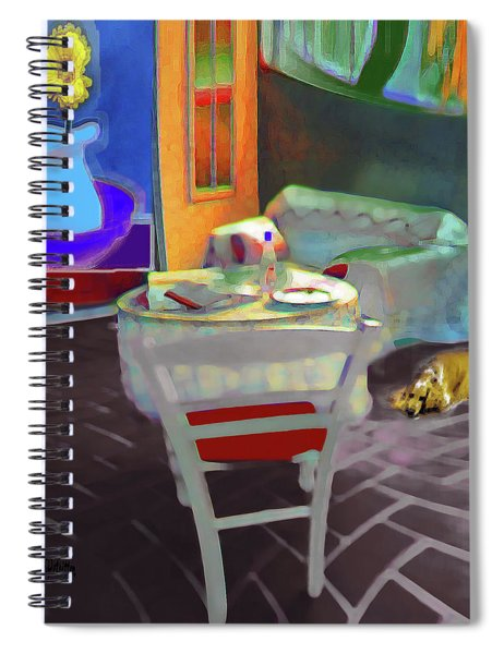 Home Sweet Home Painting Spiral Notebook