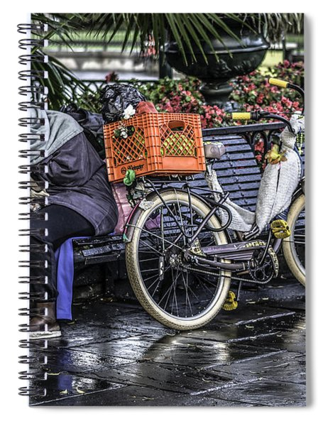 Homeless In New Orleans, Louisiana Spiral Notebook