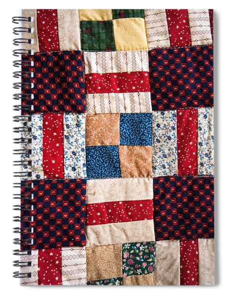 Homemade Quilt Spiral Notebook