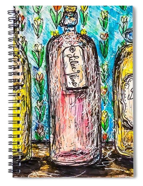 Homemade Wine Spiral Notebook