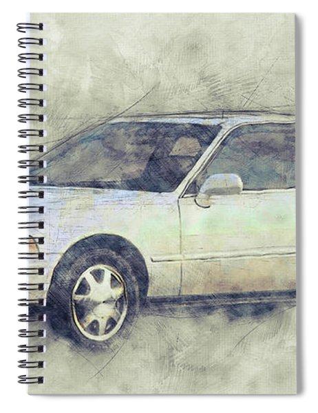 Honda Acura Legend 1 - Executive Car - 1985 - Automotive Art - Car Posters Spiral Notebook