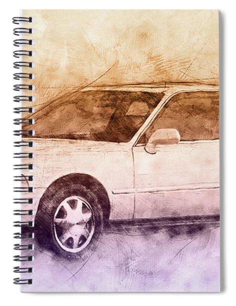 Honda Acura Legend 2 - Executive Car - 1985 - Automotive Art - Car Posters Spiral Notebook