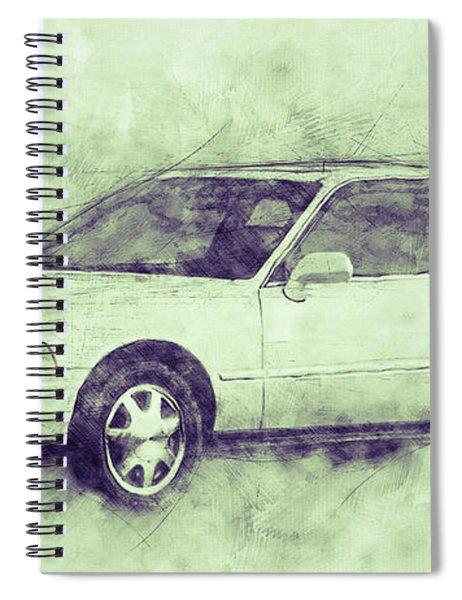 Honda Acura Legend 3 - Executive Car - 1985 - Automotive Art - Car Posters Spiral Notebook