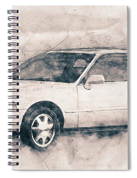 Honda Acura Legend - Executive Car - 1985 - Automotive Art - Car Posters Spiral Notebook