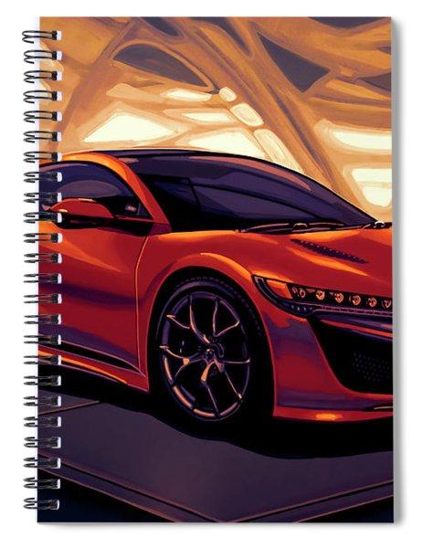 Honda Acura Nsx 2016 Mixed Media Spiral Notebook
