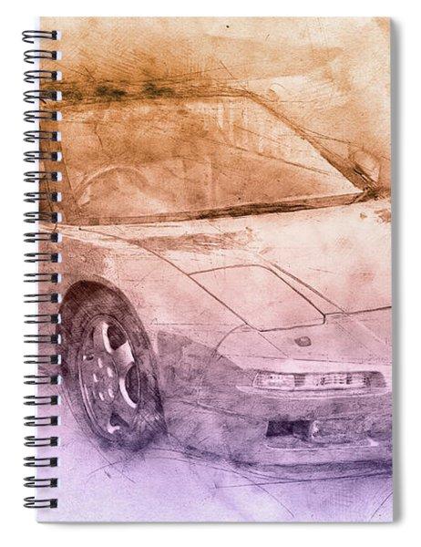 Honda Nsx 2 - Acura Nsx - Sports Car - Automotive Art - Car Posters Spiral Notebook