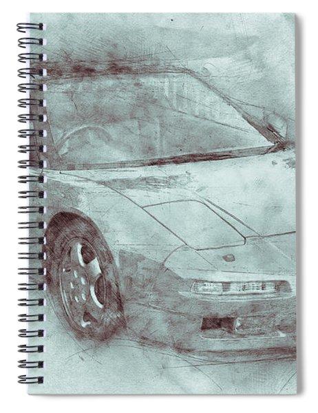 Honda Nsx 3 - Acura Nsx - Sports Car - Automotive Art - Car Posters Spiral Notebook