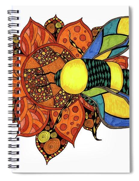 Honeybee On A Flower Spiral Notebook