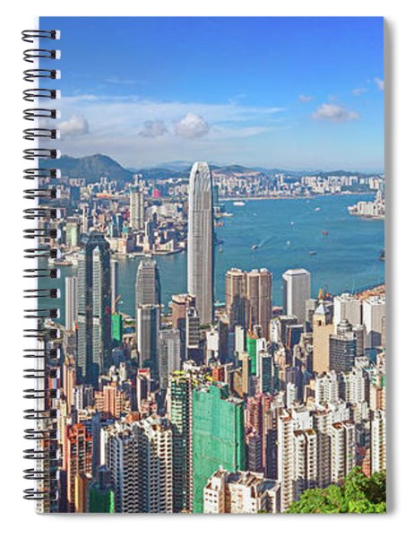 Hong Kong Skyline Panorama Spiral Notebook