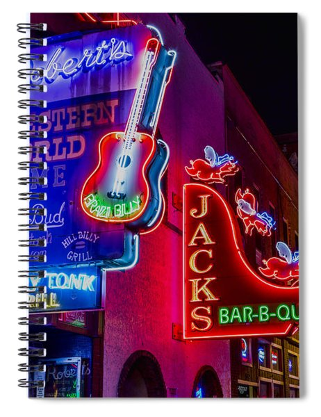 Honky Tonk Broadway Spiral Notebook