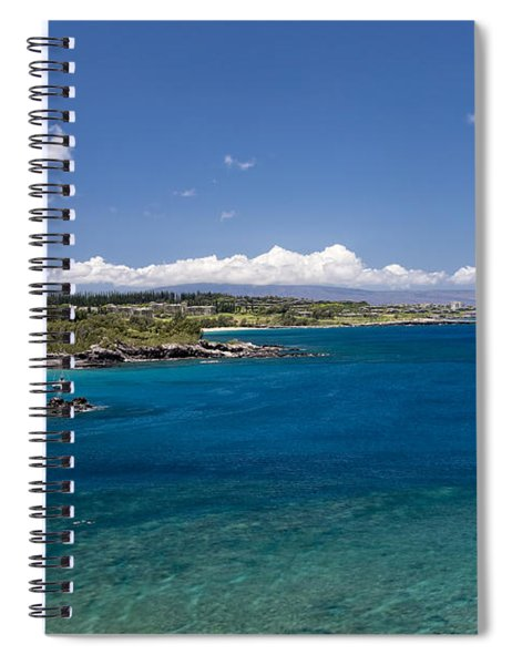 Spiral Notebook featuring the photograph Honolua Bay by Jim Thompson