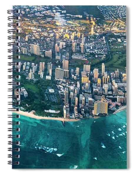 Honolulu From High Spiral Notebook