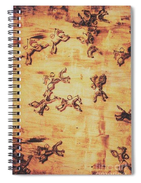 Hoofs Parade Spiral Notebook