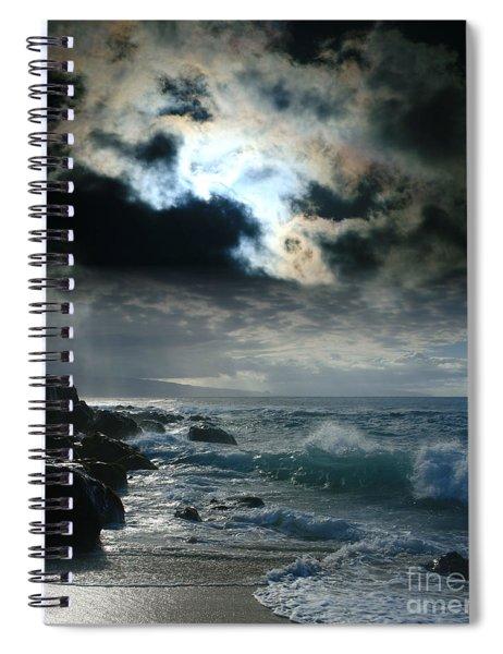 Hookipa Waiola  O Ka Lewa I Luna Ua Paaia He Lani Maui Hawaii  Spiral Notebook