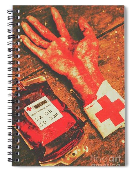 Horror Hospital Scenes Spiral Notebook