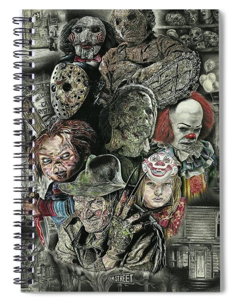 Horror Movie Murderers Spiral Notebook