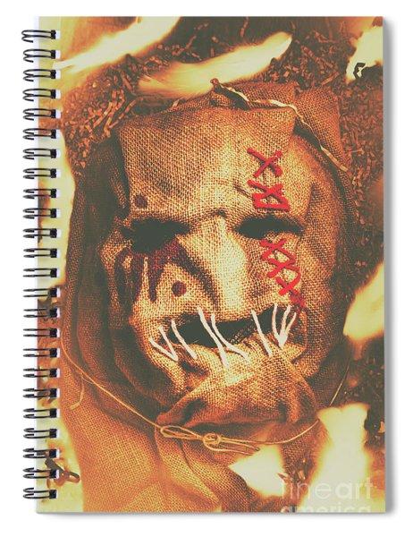 Horror Scarecrow Portrait Spiral Notebook
