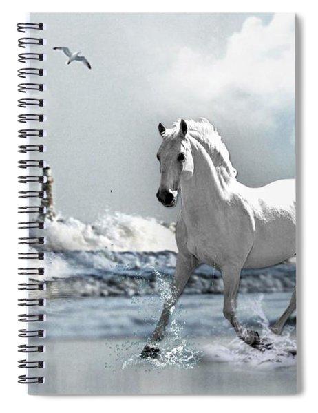 Horse At Roker Pier Spiral Notebook