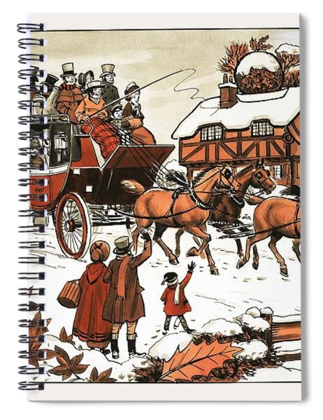 Horse And Carriage In The Snow Spiral Notebook