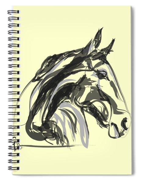 horse - Apple digital Spiral Notebook