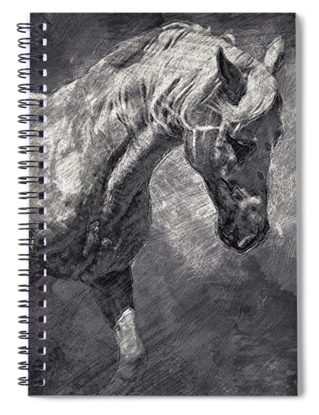 Horse Art Drawing Spiral Notebook